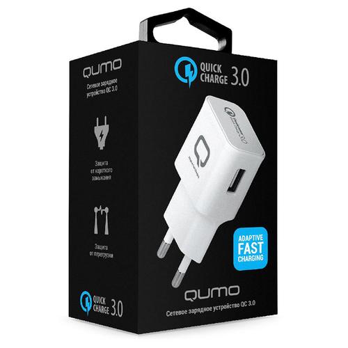 Сетевое зарядное устройство Qumo Dual Quick Charge 3.0 1USB 2A фото